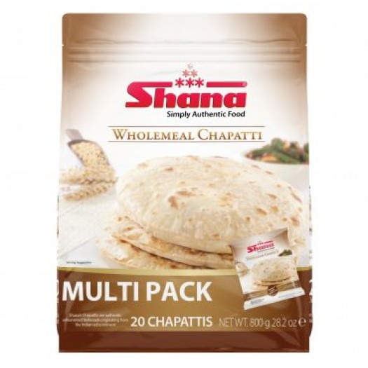 Shana Wholemeal Chapatti Multipack 800g