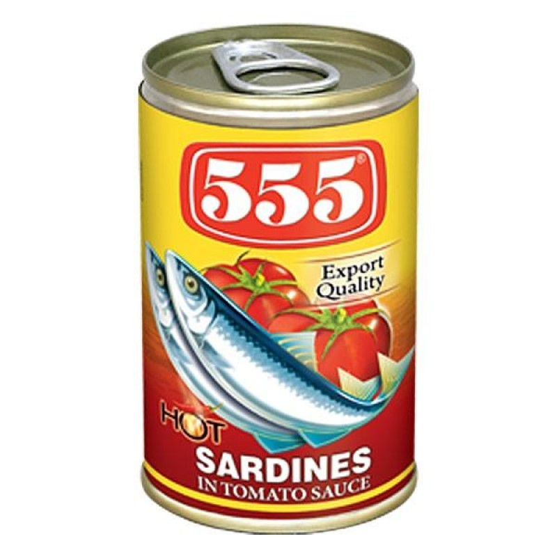 555 Sardines in Tomato Sauce With Chilli-155g