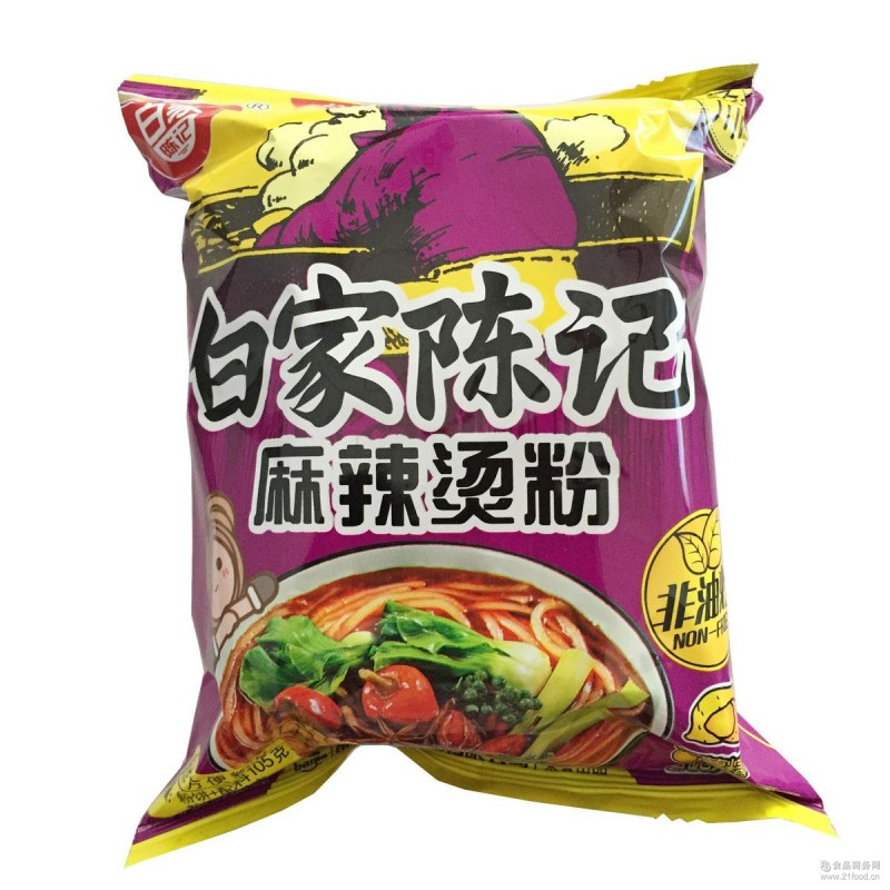 Bai Jia Instant Vermicelli Hot Spicy Flavour-105g