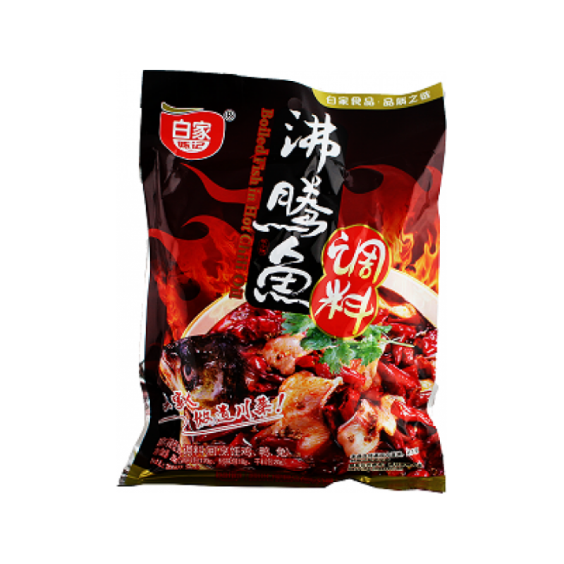 BaiJia Boiling Fish In Hot Chilli Oil-200g/pack